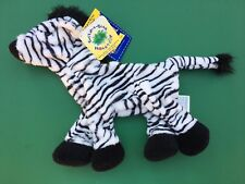 Build a Bear Full Size White/Black Zebra Plush Toy - Unstuffed - NWT