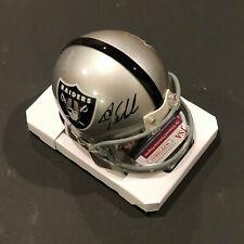 Oakland Raider, Jay Schroeder signed Riddell Mini Helmet w/JSA
