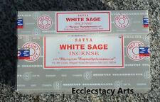 Satya Nag Champa White Sage Incense 12 x 15 grams = 180 grams NEW {:-)