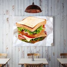 Bacon Cheese Sandwich Food Canvas Picture Home Decor Gifts Unframed Wall Prints