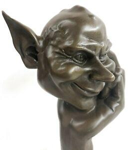 Hand Made Thinking Goblins House Ghosts Bronze Sculpture Figurine Artwork Sale