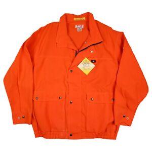 NWT Extreme Bulwark FR Fire Fire Resistant Orange Nomex Full Zip Jacket Size XL