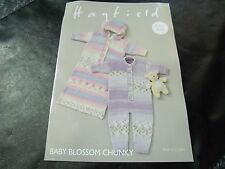 Hayfield Easy Knit Baby Blossom Chunky All in One & Sleeping Bag Pattern 4714