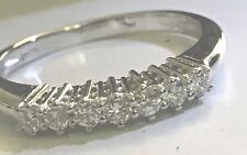 Anello Veretta oro bianco 18 kt 7 diamanti carati 0,28 - FREE DIAMONDS GIOIELLI