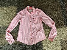 Size S Pink/white Stripe Shirt From Abercrombie & Fitch In Excellent Condition