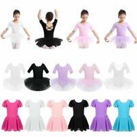 Kids Girls Ballet Dance Tutu Dress Gymnastic Leotards Toddlers Skirts Dancewear