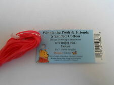 """Winne the Pooh Character Colours Stranded Cotton """"Bright Pink Eeyore"""" CT7"""