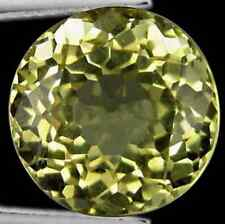 9.03 cts Rare Natural Round-cut FlashingFire Yellow VVS Scapolite (Africa)