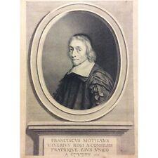 François de La Mothe Le Vayer philosophe  Robert NANTEUIL graveur 1661
