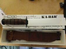 Ka-Bar 1217 Us Marine Corps Hunting Survival Fighting Knife With Leather Sheath