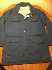 Vtg Woolrich  5 Pocket Parka Coat Jacket Mens L Blue