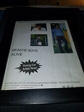 Beastie Boys Alive Rare Original Radio Promo Poster Ad Framed!