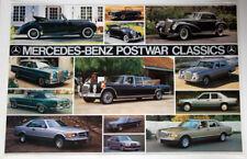 MERCEDES-BENZ POSTWAR CLASSICS Vintage Classic Original 1980s Automotive POSTER