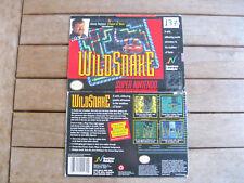 WILDSNAKE (1994) Super Nintendo (SNES) SNSP P AWSE COVER - NO CARTUCCIA