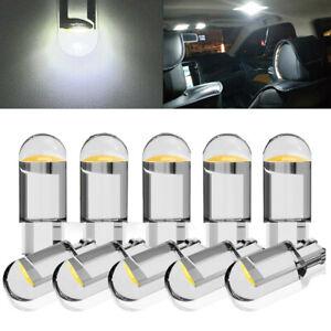 10x White LED T10 194 168 W5W Car Interior Light Trunk Lamp License Plate Bulbs