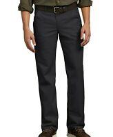 Dickies Pants Mens Flat Front Flex Straight Leg Slim Fit Black Size 40x30