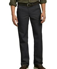 Dickies Pants Mens Flat Front Flex Straight Leg Slim Fit Black Size 40x30
