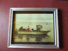 Fine Art Photography with Distressed Picture Frame, THE FISHERMAN & DOG
