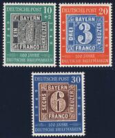 BUND 1949, MiNr. 113-115, 113-15, postfrischer Kabinettsatz, Mi. 100,-