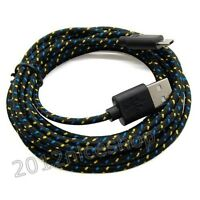10 Ft Long USB Cord Micro Charger Cable Cord for Samsung PS4 HTC Black