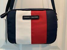 Tommy Hilfiger Signature Stripe Nylon Crossbody Shoulder Bag Purse NWT