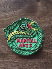 Martial Arts Fun Patch Girl Scout Boy Scout Iron On Sew On Snake Green Red Yello
