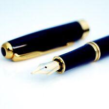 Baoer 388 Fountain Pen M Nib + Ink Converter + 10 Cartridges + Velvet Sleeve NEW
