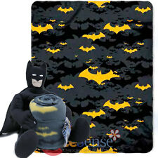 DC Comics Batman Plush Throw Blanket Micro Raschel - Ripped Shield Twin 46 x 60