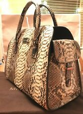 2256a77c52b7 FREE SHIP NWT Michael Kors Gia Satchel Genuine Python Leather Black Brown