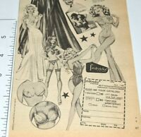 Frederick's Of Hollywood Vintage Print Ad 1976 Lingerie Nightie Stockings Bra