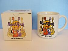 "Vtg. Hard Rock Cafe~New Orleans 3.5"" Ceramic Coffee Mug-Guitars Logo- New In Box"