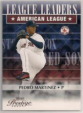 2003 Playoff Prestige Pedro Martinez League Leaders ERA /2002 Boston Red Sox