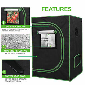 Hydroponic Grow Tent  Reflective Mylar 100% Non Toxic Indoor Room with Window