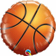Qualatex baloncesto deporte redondo 18cm Globo metalizado - Decoración fiesta