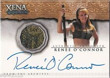 XENA QUOTABLE AC10 RENEE O'CONNOR GABRIELLE AUTOGRAPH COSTUME 2 CASE INCENTIVE
