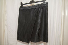 Black Snakeskin Print TopShop Mini Skirt in Size 10 - NWT