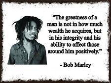 Bob Marley Quote Metal Sign, Rastafari, Jamaica,  BM01
