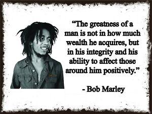 Bob Marley Quote Metal Sign, Rastafari, Jamaica, Icon, BM01