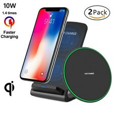 Wireless Charger Bundle For Apple iPhone 8 X XR XS  &Samsung Galaxy Note S8 S9