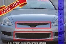 GTG 2003 - 2005 Honda Accord 2dr 2PC Gloss Black Combo Billet Grille Grill Kit
