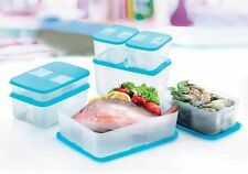 Tupperware FreezerMate Essential Set Blue 7Pcs Freezer Mate New Express