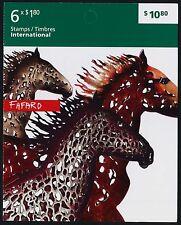 Canada 2525a booklet MNH Art, Joe Fafard, Horses
