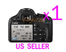 1x Canon EOS 500D Rebel T1i Clear LCD Screen Protector Guard Cover Film