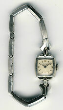 Vintage Hamilton Eloga Womans Swiss Made 10k RGP Bezel 17 Jewels Wind-Up Watch