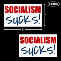 Socialism Sucks Bumper Sticker Vinyl Decal Trump 2020 Anti Obama Funny 2-PACK