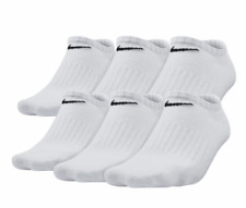 Nike Performance Cushioned No Show Socks 6 Pack 6 Pairs NEW Men SZ L 8-12 White