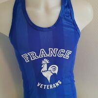 rare maillot de football sport  vintage equipe de France  veterans   vintage