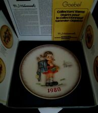 M.J. Hummel 10th Annual 1980 bas relief Goebel School Girl Collector Plate Box
