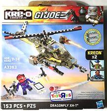 GI JOE KRE-O Blocks DRAGONFLY XH-1 Helicopter Playset Kreon Minifigures Wild Bil