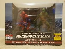 The Amazing Spider-Man (Blu-ray/DVD, 2012, 4-Disc Set, With Figurine) SEALED!!!